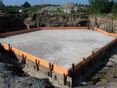 Плавающий фундамент.
