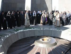 Фундамент Мемориала жертв Геноцида армян.